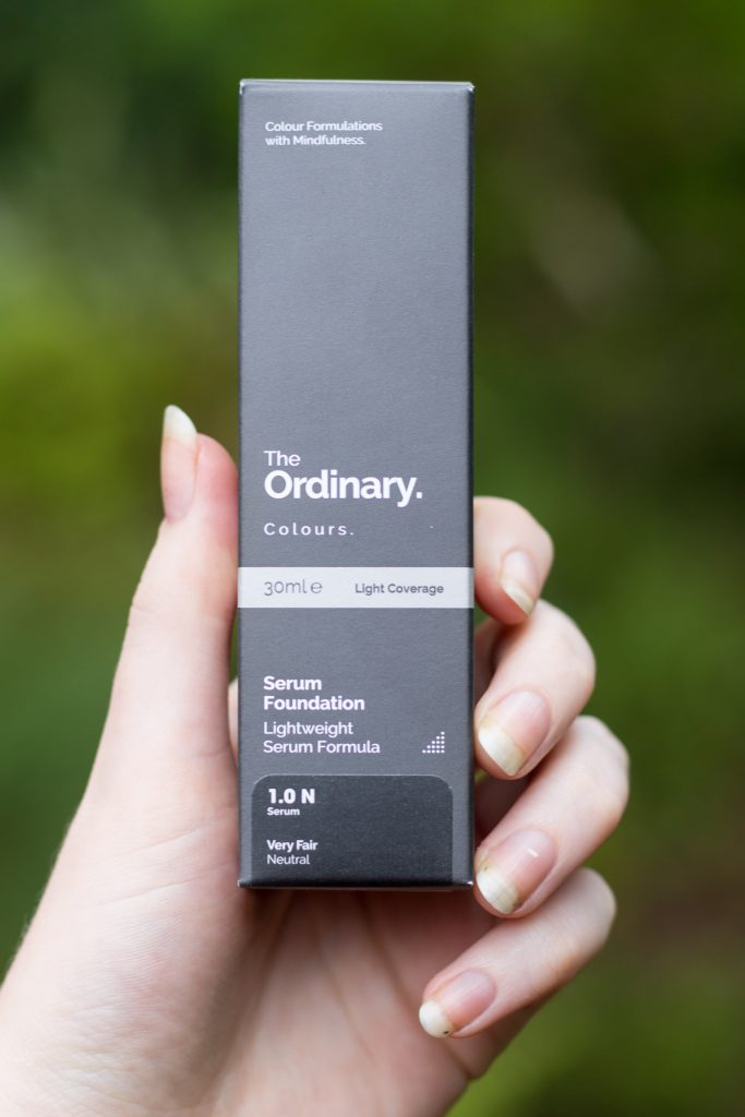 The Ordinary Colour Serum Foundation packaging box