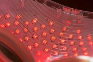 LED light therapy skin mask lights